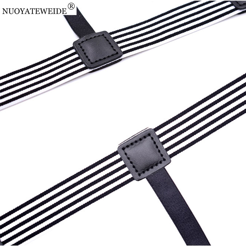 Apparel Accessories Mens Shirt Stays Holder Suspenders Nylon Adjustable Elastic Suspensores Garters For Men Leg Wraps Shirt Tuck Bretels Belt Traveling