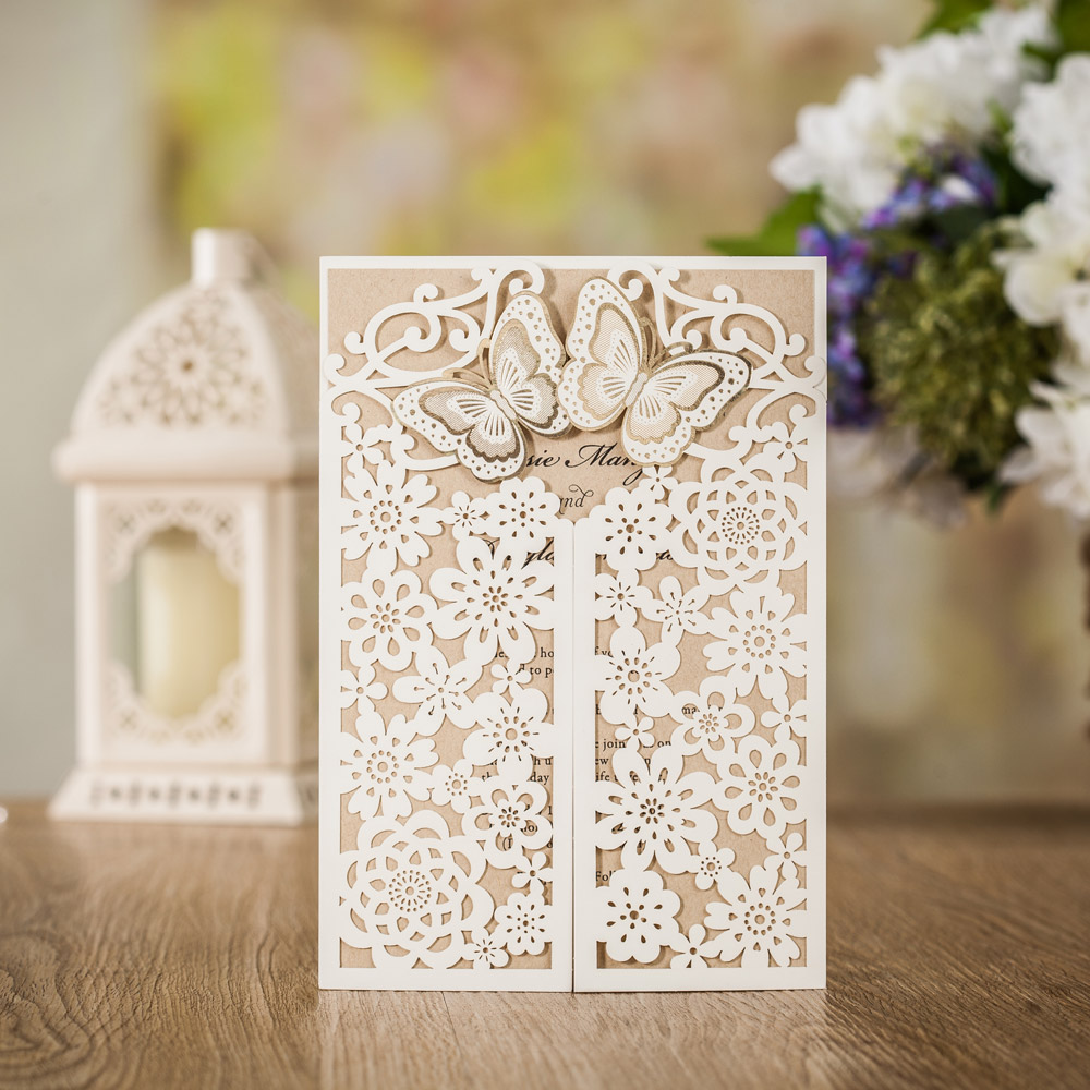 100pcs Classic Style Wedding Invitations Cards Custom With ...