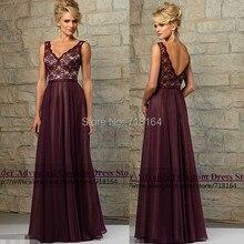 2017 new top fashion vintage lace and chiffon bridesmaid dress long party dress vestido de festa longo madrinha de casamento