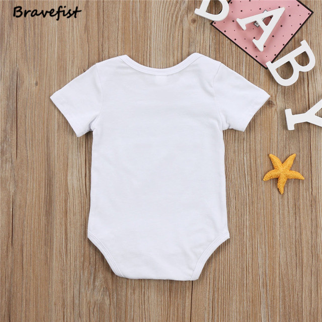 New Arrive Newborn Bodysuits Cotton Kids Jumpsuits I Have The Best Dad/Mom Letters Print Infant Outfits Children Clothes Onesie
