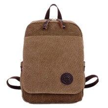European and American unisex retro fashion canvas backpack men women shoulder Messenger bag M canvas bag
