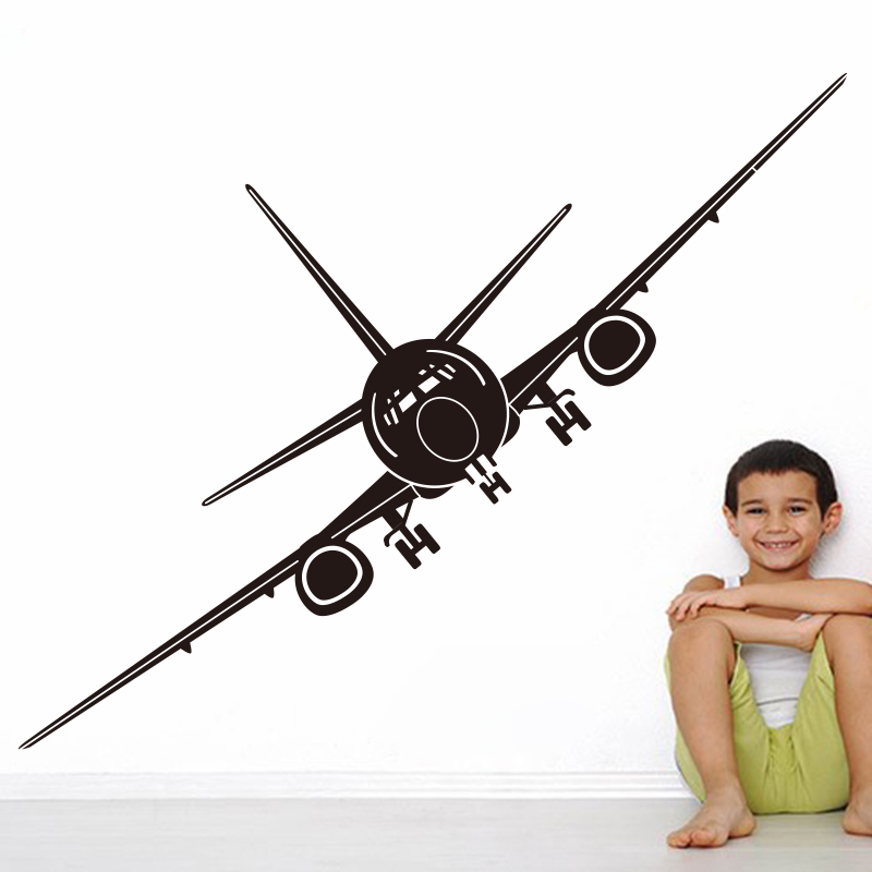 Airplane Wall Stickers Mural Wall Decor Airplane Wall Art Decal Decoration Aircraft Vinyl Stickers Removable Airplane Wallpaper image