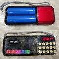 Портативный мини FM Радио Часы Стерео TF Спикер Построить В Два 18650 Батареи Слот Аккумуляторная Карманные Радио