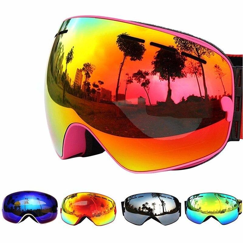 387f42891fb2 COPOZZ Ski Goggles Double Layers UV400 Anti-fog Big Ski Mask Glasses Skiing  Men Women