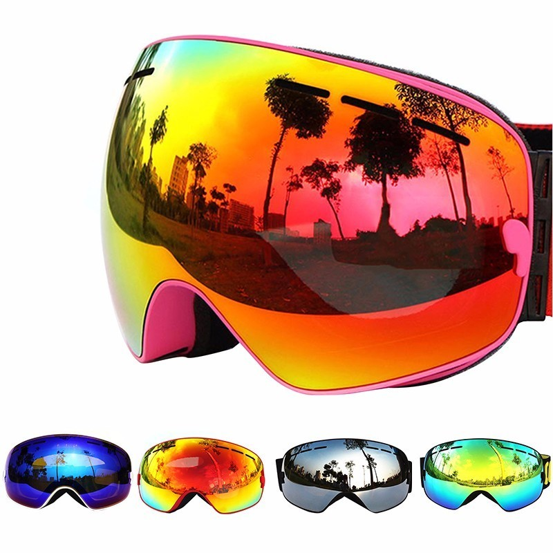 COPOZZ Ski Goggles Double Layers UV400 Anti-fog Big Ski Mask Glasses Skiing Men Women Professional Snow Eyewear GOG-201 Lens