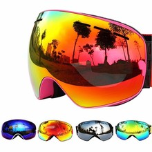 COPOZZ Ski Goggles Double Layers UV400 Anti-fog Big Mask Glasses Skiing Men Women Professional Snow Eyewear GOG-201 Lens