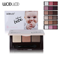 Baby Smooth 3 Color Matte Eye Shadow Palette Naked Eyeshadow Glitter Eyebrow Natural with Eye Brush Tool Wodwod Makeup Brand