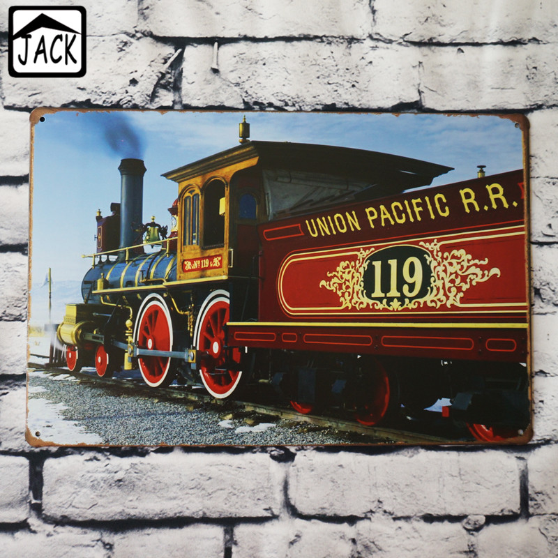 UNION PACIFIC Steam Train Vintage Poster Metal Tin Signs