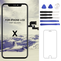 For iphone X XS Max XR LCD Display Screen For Tianma AMOLED OEM Digitizer with Touch Screen Assembly For iphone X LCD Screen
