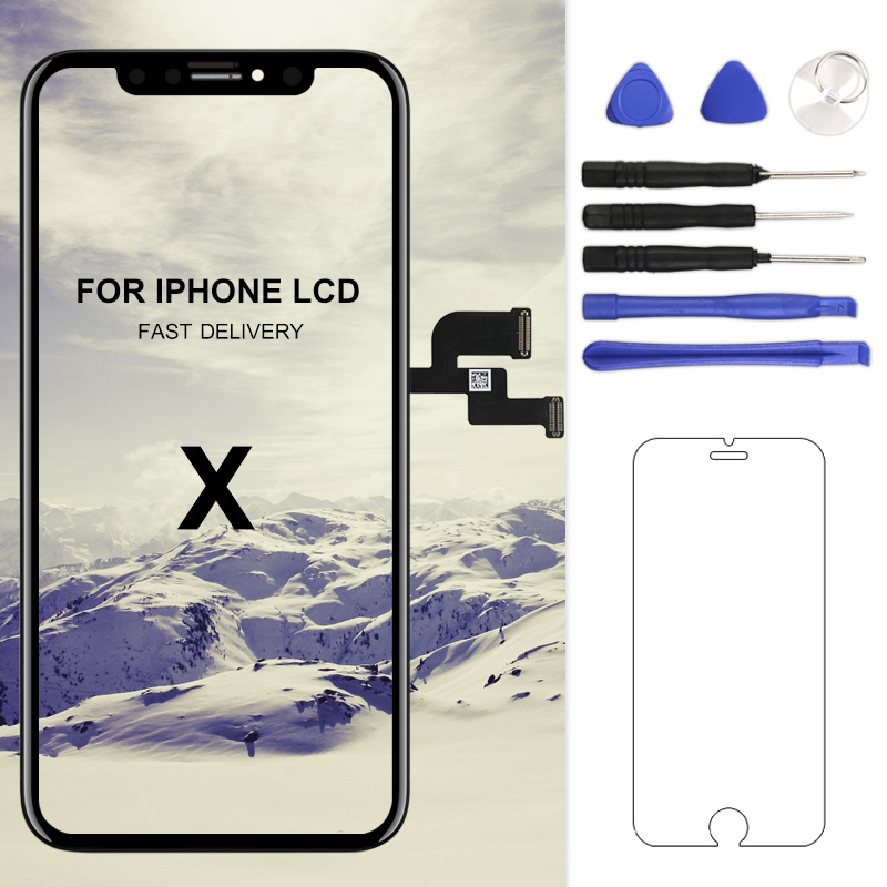 For iphone X XS Max XR LCD Display Screen For Tianma AMOLED OEM Digitizer with Touch Screen Assembly For iphone X LCD Screen-in Mobile Phone LCD Screens from Cellphones & Telecommunications    1