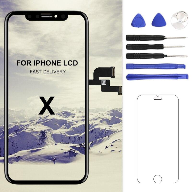 Para o iphone x xs max xr tela lcd para tianma amoled oem digitador com montagem da tela de toque para o iphone x tela lcd
