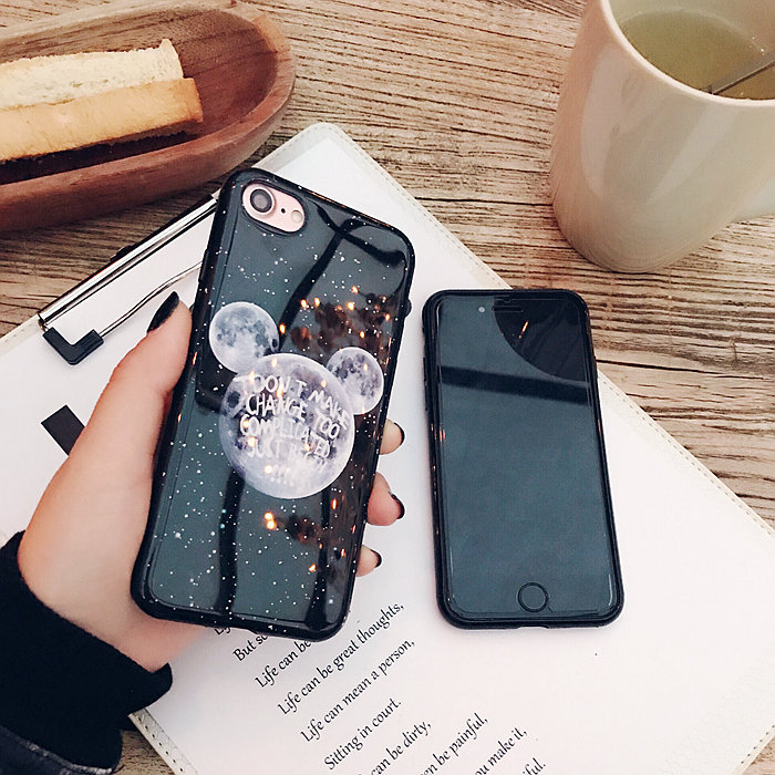 Kerzzil Shining powder Sky Moon Planet Soft Case For iPhone