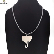 YD&YDBZ Elephant Animal Pendant Necklaces Women Collar Chains Fashion 2019 New Simple Necklace Girl Gifts Handmade DIY Jewelery