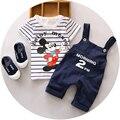 2016 летом новый детей мальчиков комплект одежды 1 2 3 лет ребенок устанавливает хороший хлопок мода стиль ребенка 2 шт. костюм A124