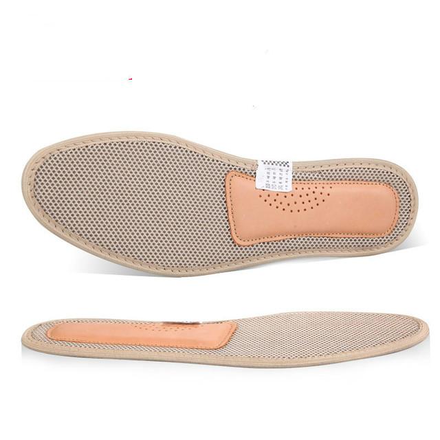 Respirável Desodorante de Bambu do Carvão Vegetal Palmilha Fascite plantar Pé Almofada de Amortecimento Palmilhas Para Sapatos de Couro Acessórios 2 Pares/set