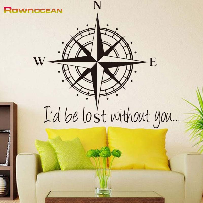 High quality the compass nautical wall stickers interior for Quality home decor