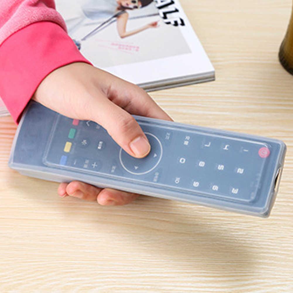 1PCโปร่งใสป้องกันฟิล์มรีโมทคอนโทรลฝุ่นป้องกันหดกระเป๋าเครื่องปรับอากาศทีวีครอบคลุม