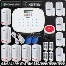 Kerui Wireless GSM Antifurto Casa Sistemi di Allarme Casa Intelligente ISO Android App Controllo RFID Composizione Automatica Touch Display Detector