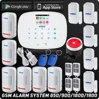 Kerui Wireless GSM Home Burglar Security Alarm Intelligent House ISO Android App Control RFID Autodial Touch Display Detector