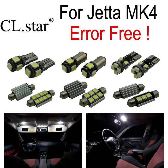 12 X Error free for Volkswagen  MK4 Jetta   LED Interior lights VW Kit  package (1999-2005) free shipping 2pc lot led lights hi q 921 50w back up lamp up to 2014 for volkswagen jetta iv