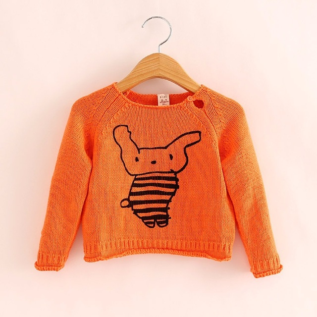 Children Sweaters Boys Girls Knitted Cotton Pullovers 2015 Autumn New Style Sweater For Girls To Kids 2-8 Yrs