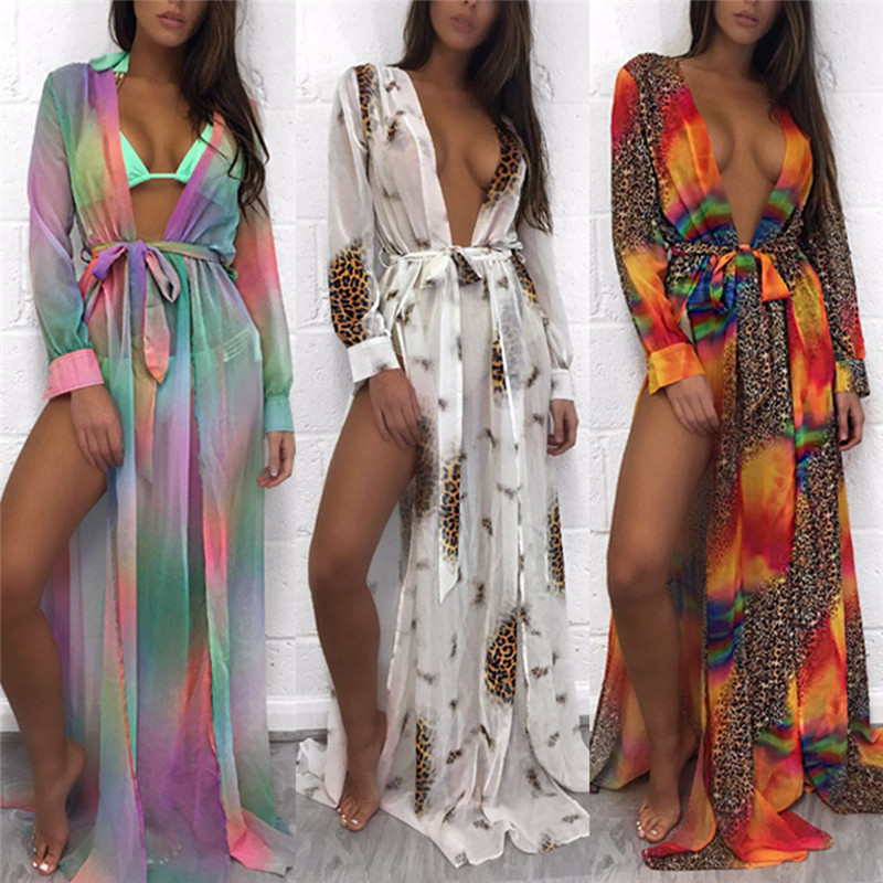 Floral Embroidery Beach Bikini Swimsuit Cover Up Robe De Plage Beach Cardigan Swimwear Bathing Suit Cover Up