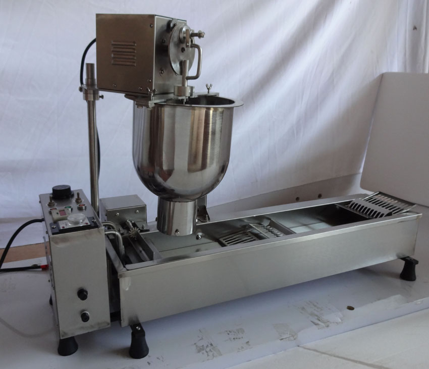 Free Shipping  110v Or 220v 3000W Stainless Steel Donut Maker Come With 3 Mould Full Automatic Donuts Machine free shipping of 1pc hss 6542 full cnc grinded machine straight flute thin pitch tap m37 for processing steel aluminum workpiece