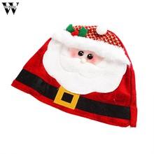 0e6b18598f8 Novedad 1 pieza sombreros Unid rojos fiesta de Navidad Santa sombrero rojo  y blanco gorra para Santa Claus disfraz Feliz Navidad.