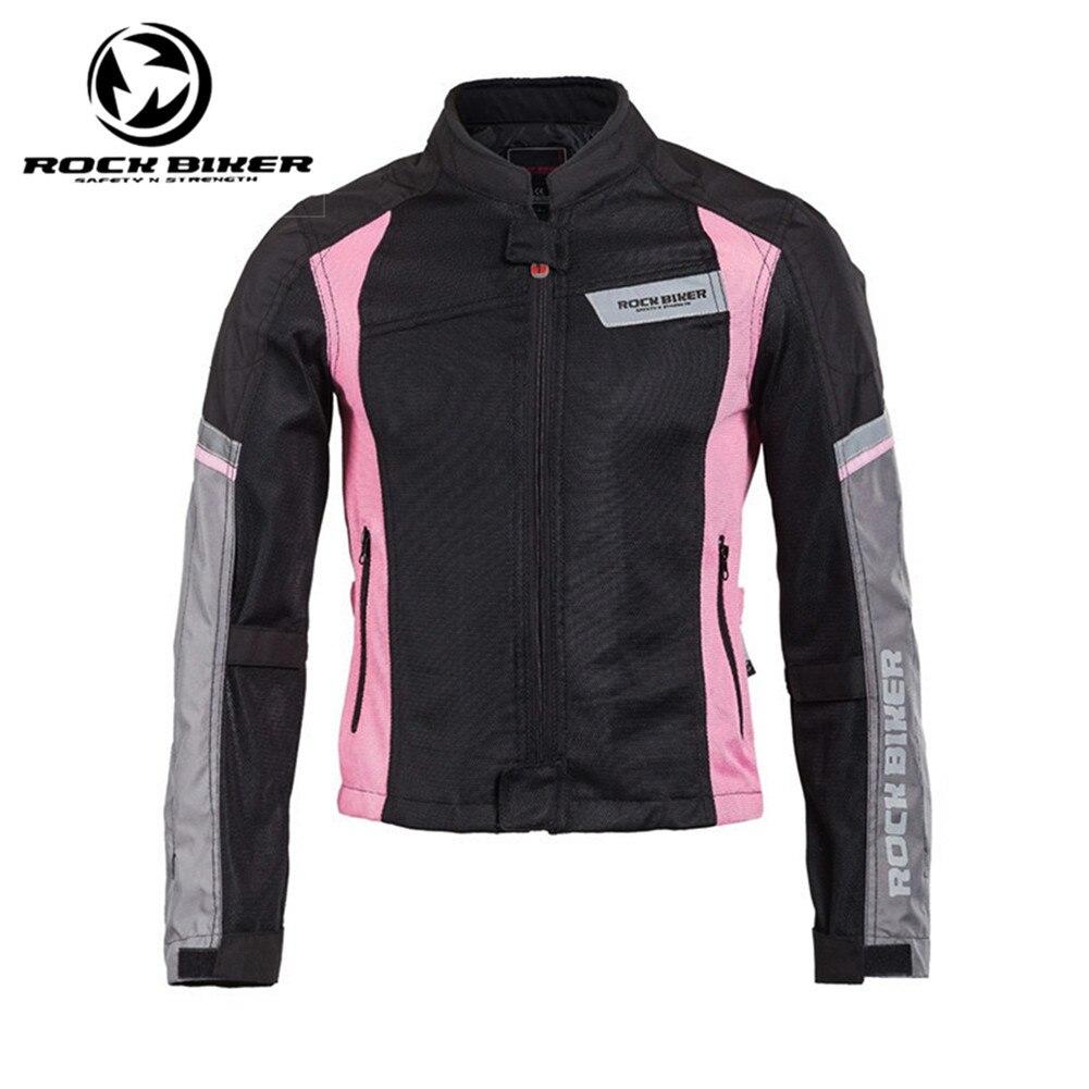 Rock Biker Women Motorcycle Summer Jacket Motocross Riding Jacket 10113 Safety Chaqueta Moto Racing Clothes
