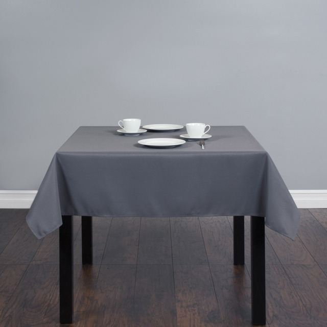 Fedex IE 54 Inch/140cm Square Polyester Tablecloth Charcoal For Wedding  Event Banquet Party 20
