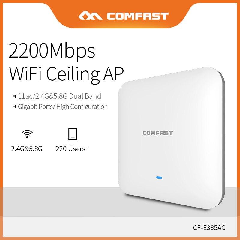 COMFAST 2200 M Gigabit Dual Band Routeur WAVE2 Plafond Sans Fil WiFi AP Point D'accès Répéteur Wi fi amplificateur de signal CF-E385AC