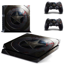 Captain America's Shield PS4 Skin Sticker for Sony Playstation 4 Console & 2 Controller Protective Sticker