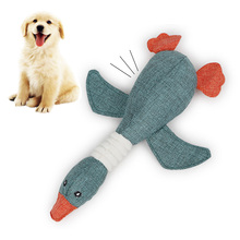 Leewince Linen Squeak Chew Toys for Dogs Cat Puppy Pet Interative Screaming Durability Wild Golden Goose Sounding Funny