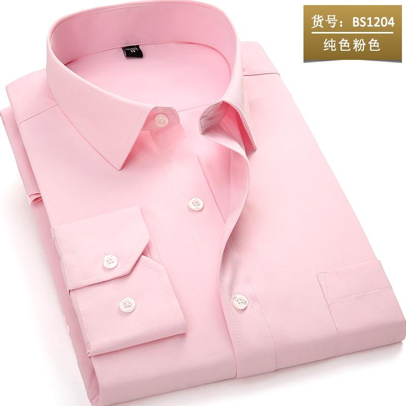 Nieuw aangekomen 2018 heren shirt met lange mouw Casual pure kleur / - Herenkleding - Foto 4