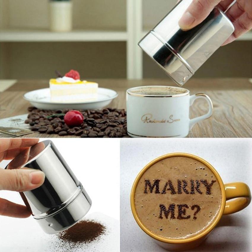 ChocolatevShaker Cocoa Flour Icing Sugar Coffee Sifter Lid Shaker CookingVB