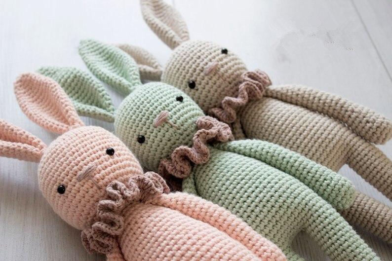 Gehaakte speelgoed gehaakte amigurumi pop schattige bunny model nummer TS041327 3