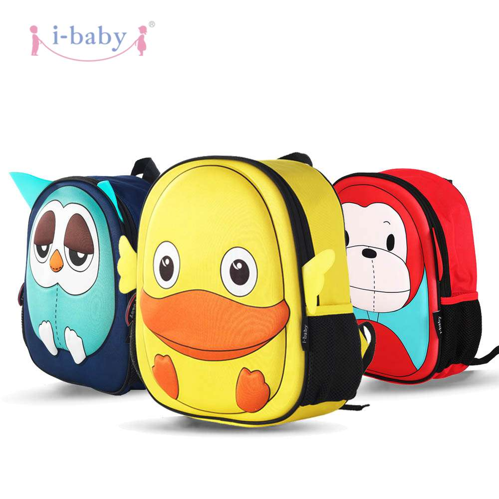 i-baby 3D Animal Design Kids Backpack Waterproof Schools Baby Toddler Kindergarden Lunch Box Carry Bag, Ages 2+, Duck,2 Colors duck animal series many chew toy page 2
