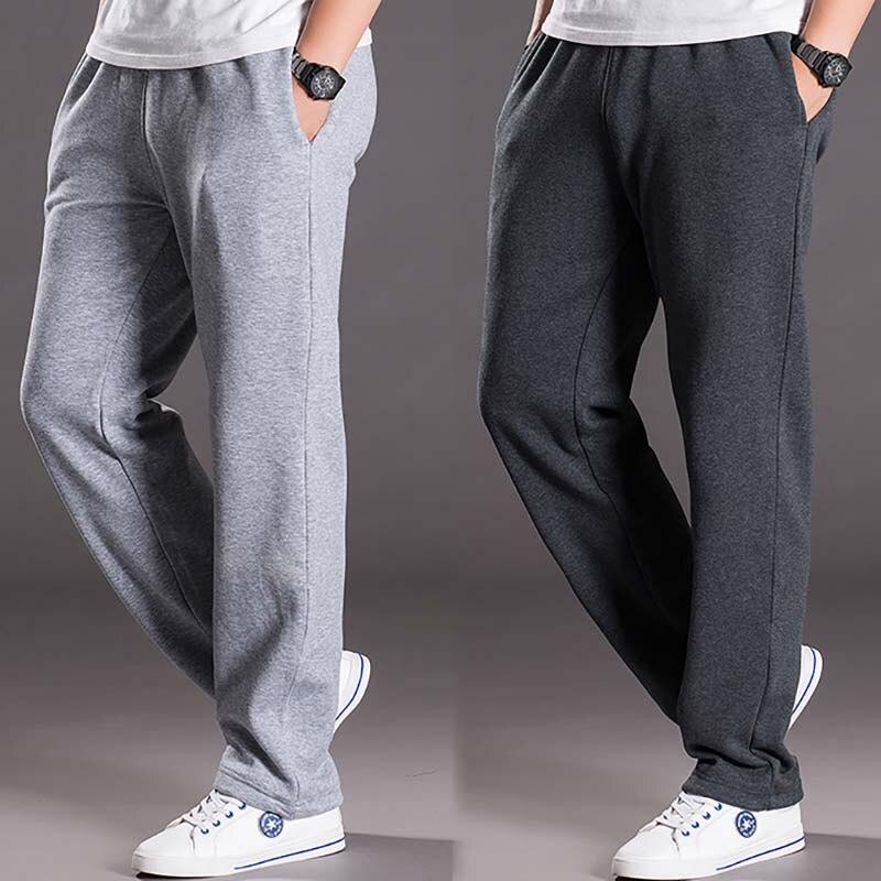 Mens Sweat Pants Warm Streetwear Loose Baggy Joggers Autumn Winter Pants Hip Hop Harem Trousers Fleece Sweatpants Men Clothes