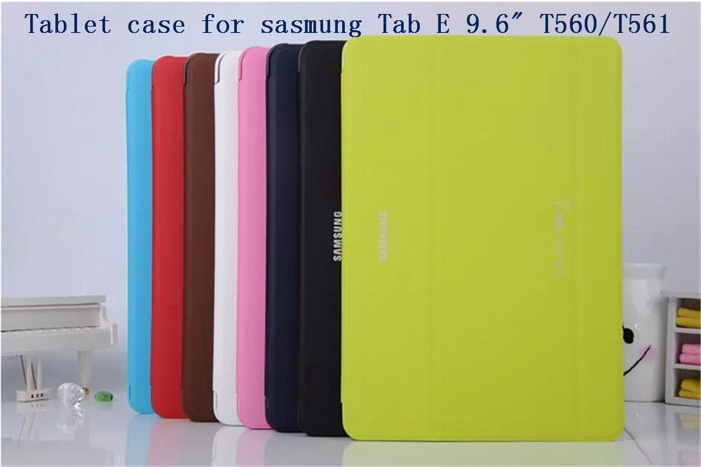 New Business smart Luxury pu leather Case Cover For Samsung GALAXY Tab E 9.6 T560 561 tablet case+screen protector+stylus luxury flip stand case for samsung galaxy tab 3 10 1 p5200 p5210 p5220 tablet 10 1 inch pu leather protective cover for tab3
