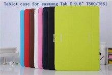 Nuevos Negocios de Lujo elegante de la pu Cubierta de cuero Para Samsung GALAXY Tab 9.6 E T560 561 caja de la tableta + pantalla protector + stylus