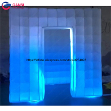 Inflatable used portable LED Light White Inflatable Cube Tent, Inflatable Photo Booth