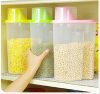 Large Size Cereals Storage Seaked Tank Dumping Of Antibacterial Storage Jars 2 5L 16x9x22cm Free Shipping