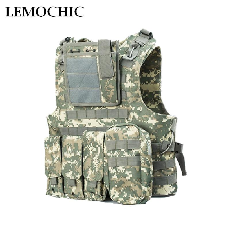 LEMOCHIC Patrol SWAT Vest Tactical Paintball Wargame Equipment Army Hunting Molle Airsoft Military Vest Outdoor Body Armor