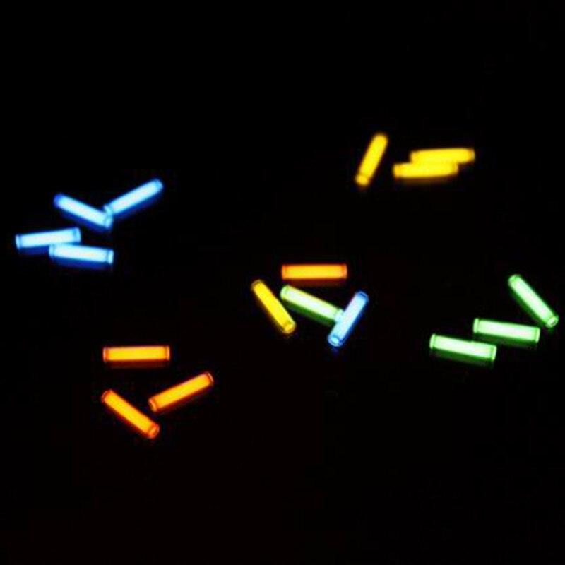1 pz 1.5mm * 6mm Automatico della luce 25 anni tritium keychain portachiavi tubo fluorescente salvavita luci di emergenza