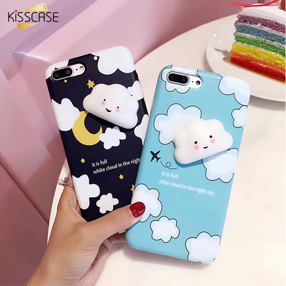 Squishy Cat For Phone Case : KISSCASE Squishy Cat Phone Case For iPhone 6 Plus iPhone 6s Plus 3D Cartoon Mobile Phone Case ...