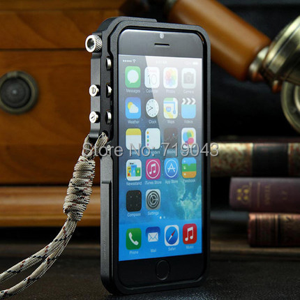 For Apple font b iphone b font 6 plus Metal bumper TRIGGER Tactical Edition for iphone6