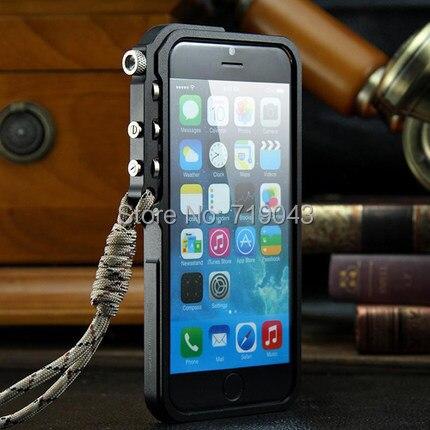 imágenes para Para el iphone de Apple 6 s/plus de DISPARO Táctico Edición de parachoques del Metal para iphone6 4.7/5.5 premium parachoques del metal cubierta del caso del capítulo
