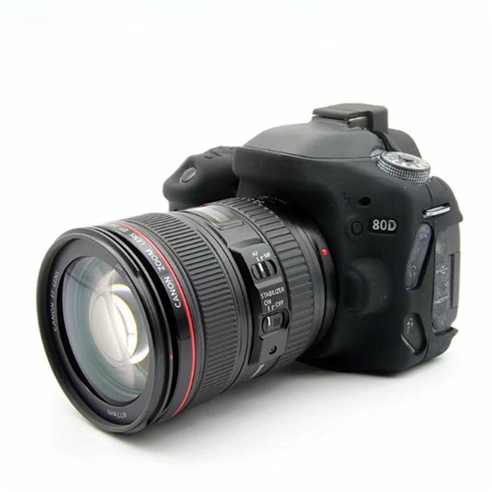FGHGF Rubber Silicon Case Body Cover Protector Soft Frame Housing for Canon EOS 80D Camera