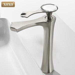 Image 3 - XOXO grifo de lavabo moderno de diamante, negro y dorado, para baño, 20085G
