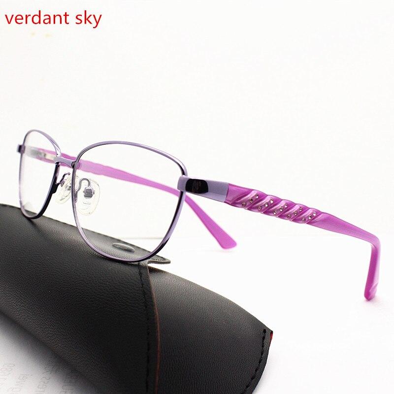 2017 Retro Latest acetate glasses legs Fashion Eyeglasses Frame Brand Designer Women Business Frame Glasses With Spring Hinge